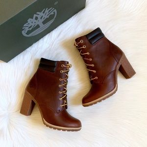 Timberland Brown Leather Tillston 6 Inch Boots